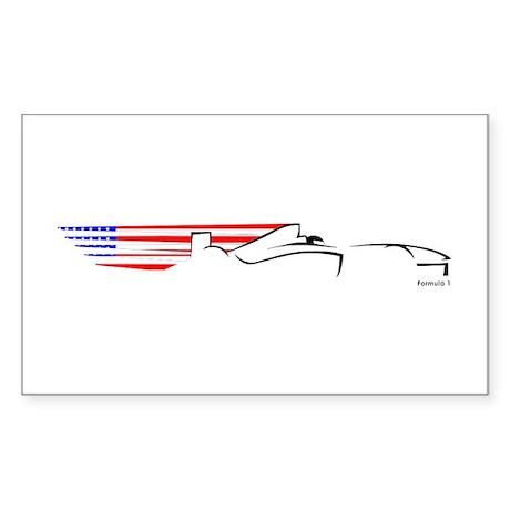 Formula 1 USA Rectangle Sticker