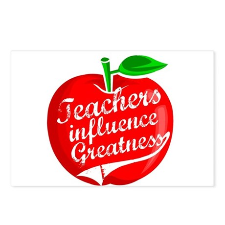 Teachers Influence Greatness Postcards (Package of