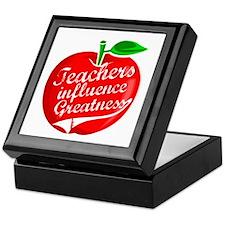 Teachers Influence Greatness Keepsake Box