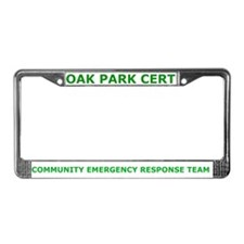Oak Park CERT License Plate Frame