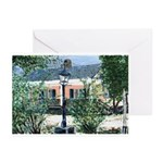 Pink Cottage Greeting Cards (Package of