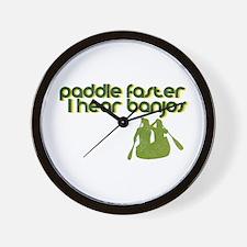 Banjos Paddle Faster Wall Clock