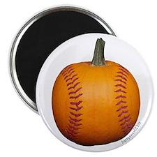 """Baseball Pumpkin 2.25"""" Magnet (10 pack)"""