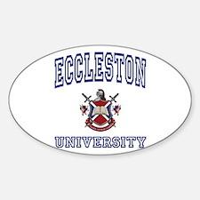 ECCLESTON University Oval Decal