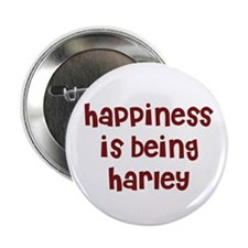 happiness is being Harley Button