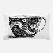Fancy Victorian China Porcelain Teacup Pillow Case