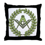 Masons square in a circle Throw Pillow