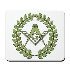 Masons square in a circle Mousepad
