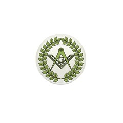 Masons square in a circle Mini Button (10 pack)