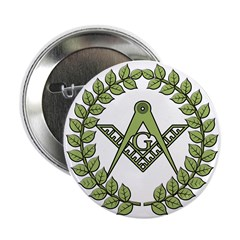 Masons square in a circle Button