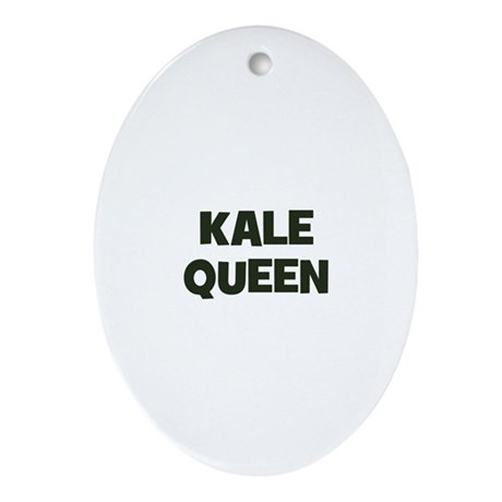 kale queen Oval Ornament