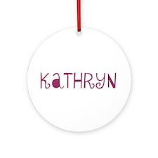Kathryn Ornament (Round)