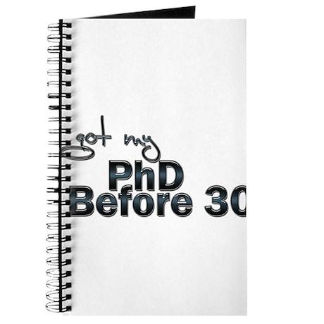 PHD before 30 Journal
