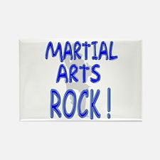 Martial Arts Rock ! Rectangle Magnet (10 pack)
