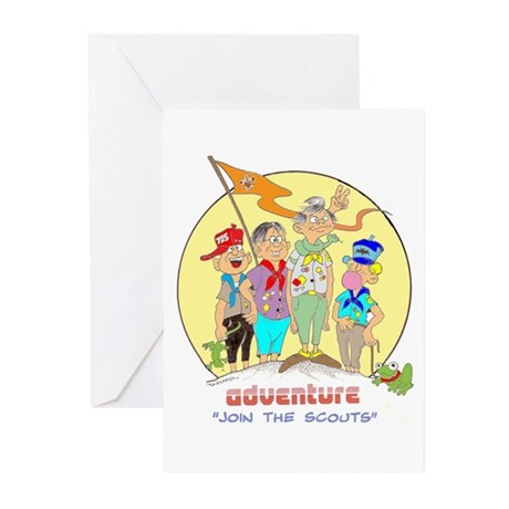 ADVENTURE-BOY SCOUTS II Greeting Cards (Package of