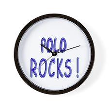 Polo Rocks ! Wall Clock