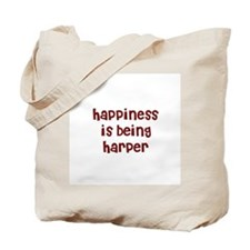 happiness is being Harper Tote Bag