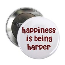 happiness is being Harper Button
