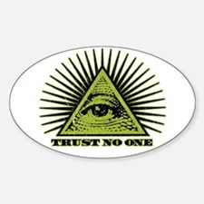 Trust No One (vintage distressed look) Decal