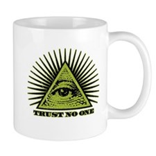 Trust No One (vintage distressed look) Mugs