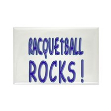 Racquetball Rocks ! Rectangle Magnet