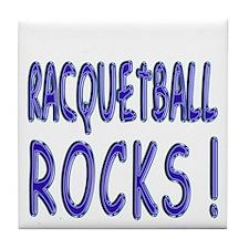 Racquetball Rocks ! Tile Coaster