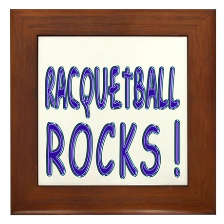 Racquetball Rocks ! Framed Tile