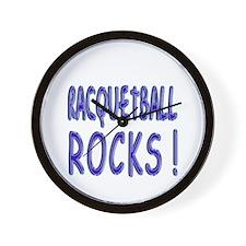 Racquetball Rocks ! Wall Clock