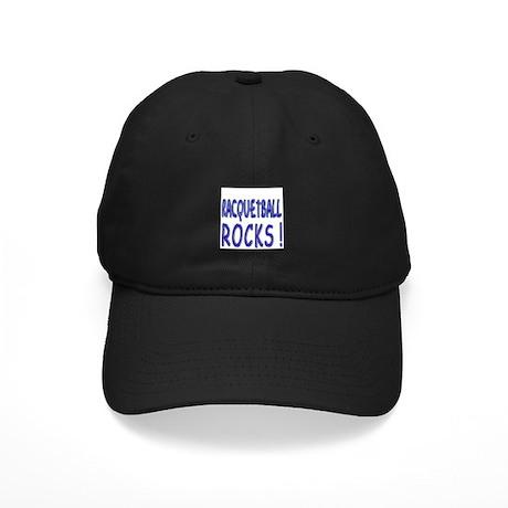 Racquetball Rocks ! Black Cap