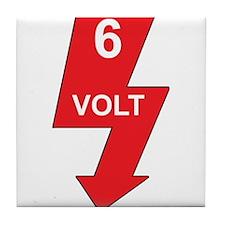 6 Volt Red Tile Coaster