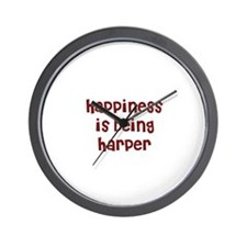happiness is being Harper Wall Clock