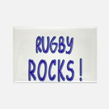 Rugby Rocks ! Rectangle Magnet (10 pack)