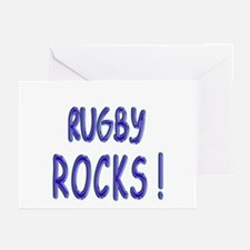 Rugby Rocks ! Greeting Cards (Pk of 10)
