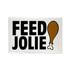 Feed Jolie Rectangle Magnet
