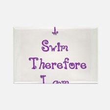 I Swim Therefore I Am 1 Rectangle Magnet