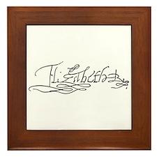 Queen Elizabeth I of England Signature Framed Tile