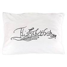 Queen Elizabeth I of England Signature Pillow Case