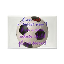 Not A Soccer Mom Rectangle Magnet