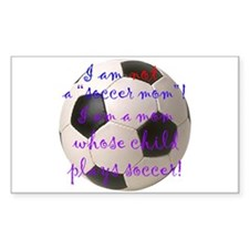 Not A Soccer Mom Rectangle Decal