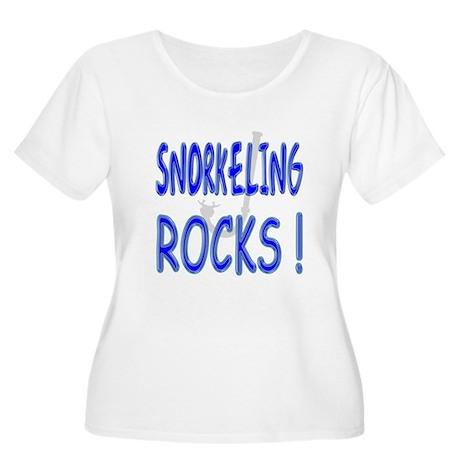 Snorkeling Rocks ! Women's Plus Size Scoop Neck T-