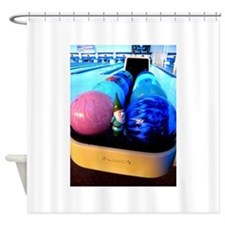 Bowling Gnome Shower Curtain