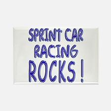 Sprint Car Racing Rocks ! Rectangle Magnet (10 pac
