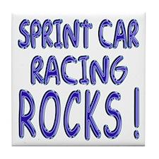 Sprint Car Racing Rocks ! Tile Coaster