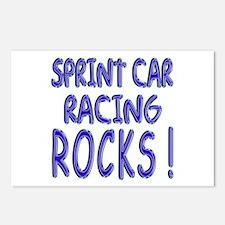 Sprint Car Racing Rocks ! Postcards (Package of 8)