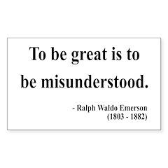 Ralph Waldo Emerson 14 Rectangle Decal