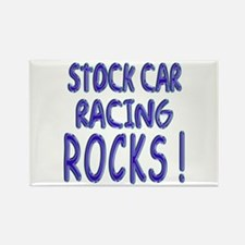 Stock Car Racing Rocks ! Rectangle Magnet (10 pack