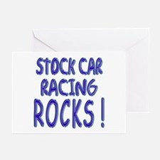 Stock Car Racing Rocks ! Greeting Cards (Package o