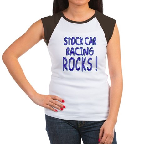 Stock Car Racing Rocks ! Women's Cap Sleeve T-Shir