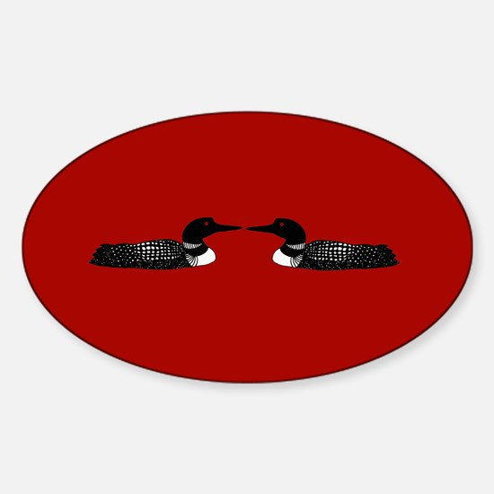 Loon Oval Decal