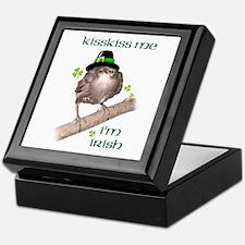 Kiss Me I'm an Irish Starling Keepsake Box